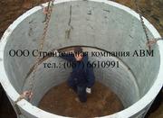Монтаж железобетонных колец септик дренаж канализация сантехника