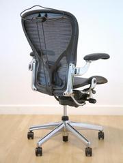 Herman Miller Aeron,  Polished Aluminum кресло