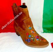 Ботинки женские замшевые фирмы Gian Marco Conti оригинал п-о Италия