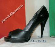 Туфли женские кожаные фирмы GUESS с открытым носком Италия