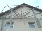 Забор металлический,  вынос балкона,  лестница металлическая. Киев цены.