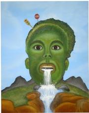 Картина маслом Удивление из серии картин Эмоции. Эксклюзив. Абстракция