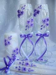 Свадебные бокалы и аксессуары,  Киев,  пересылка