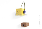 Оригинальные часы Progetti Uhuhu Clock,  Yellow and Purple
