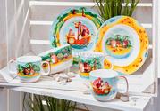 Оригинальный набор детской посуды Villeroy & Boch коллекция Chewy's Tr