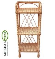 Плетеная мебель недорого,  Полка из лозы (3 яруса)