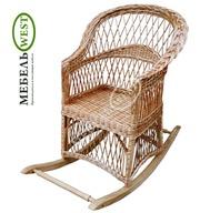 Плетеная мебель из лозы купить,  Кресло-качалка Простая