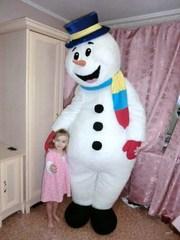 Оригинальное,  необычное поздравление зимой,  ростовая кукла Снеговик
