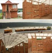 Строительство конюшен,  манежей и каркасных домов