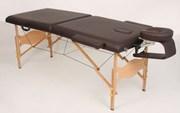 Двухсекционный массажный деревянный стол