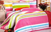 Двуспальное постельное белье сатин,  Комплект Малинка