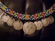 Продам ожерелье из старинных серебряных монет в этническом стиле!