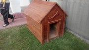 Деревянные вольеры,  будка для собак