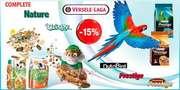 Скидка на корм для птиц и грызунов Versele-Laga (Верселе-Лага)