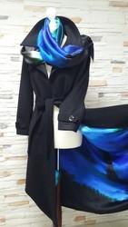 Пальто жіноче з натурального кашеміру та шовку