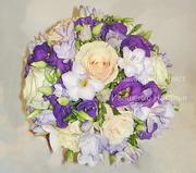Свадебный букет фиолетовый в Киеве