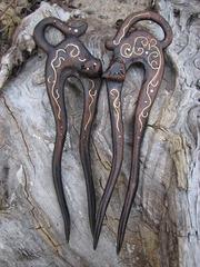 Заколка деревянная