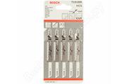Пилочки для лобзика Т-101 BR, HCS, Bosch ламинат, шпон, пластик.( 5 шт в упаковке) 40 гр