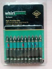 Биты для шуруповерта Whirlpower PZ2 50 mm (10 шт в упаковке)