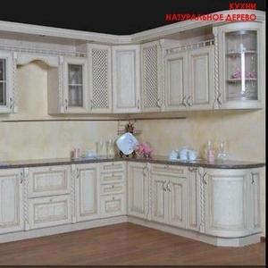 Кухня с фасадами из натурального дерева - Дуб SARF