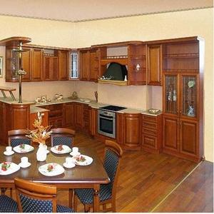 Кухня - фасады натуральное дерево Черешня ХВ