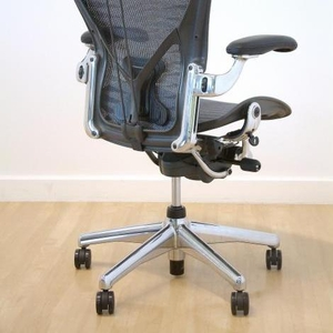 Herman Miller Aeron,  Polished Aluminum кресло