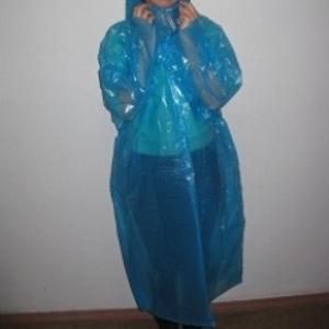 Плащ дождевик белый,  синий,  зеленый,  фиолетовый,  прозрачный от 7.50 гр