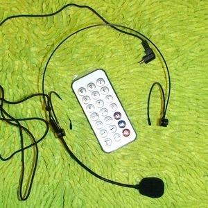 Микрофон-гарнитура с автономным усилителем звука для Деда Мороза