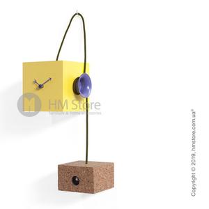 Оригинальные часы Progetti Uhuhu Clock,  Yellow and Purple