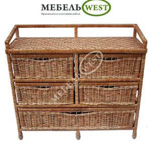 Производство плетеной мебели,  Комод Большой (тумба)