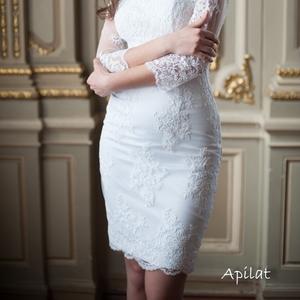 Короткие свадебные платья от Apilat