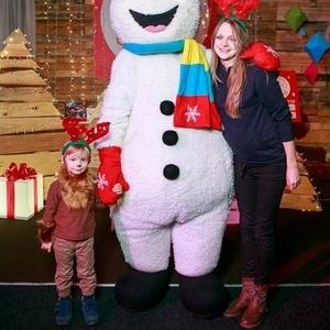 Ростовая кукла Снеговик на праздник,  утренник,  Новый год,  корпоратив,  Снеговик-почтовик