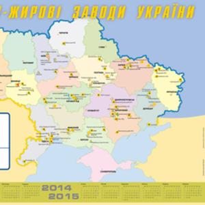 Карта масложировых заводов Украины
