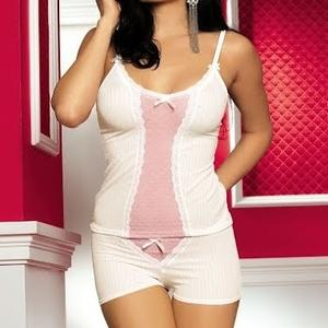 Магазин женского белья оптом,  Комплект Obsessive Blush top & shorties