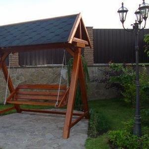 Качель садовая (дачная) из дерева