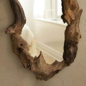 Авторские настенные зеркала вырезанные из капа дуба,  ореха. Под заказ.