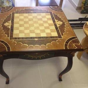 Стол шахматный в стиле Буль.