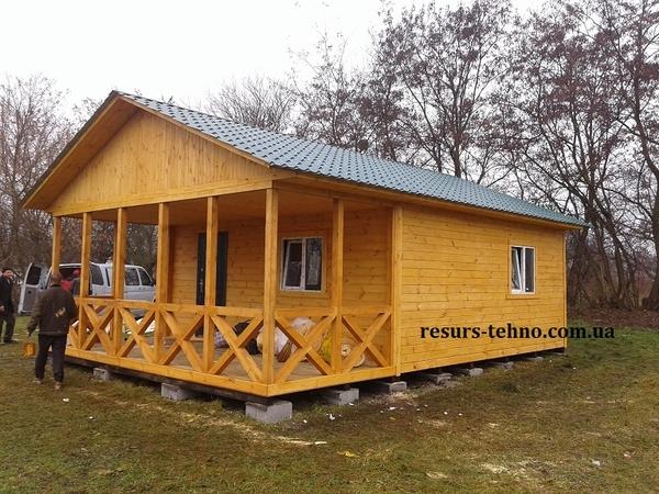 Домики дачные деревянные, бытовки дачные, строительные. 6