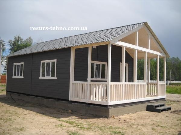 Дачные домики недорогие строим в любое время года. 3
