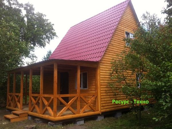Дачные домики недорогие строим в любое время года. 4