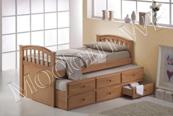 Подрастковая кровать Лилу из натурального дерева 2