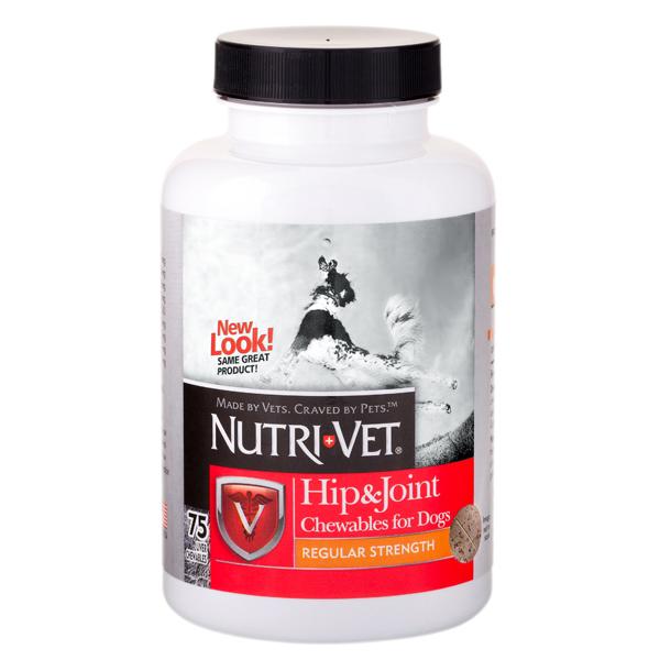 Nutri-Vet Hip&Joint , хондроитин и глюкозамин для собак,  1 уровень