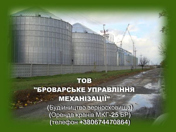 Аренда гусеничного крана МКГ-25БР по Киев и др. города Украины.