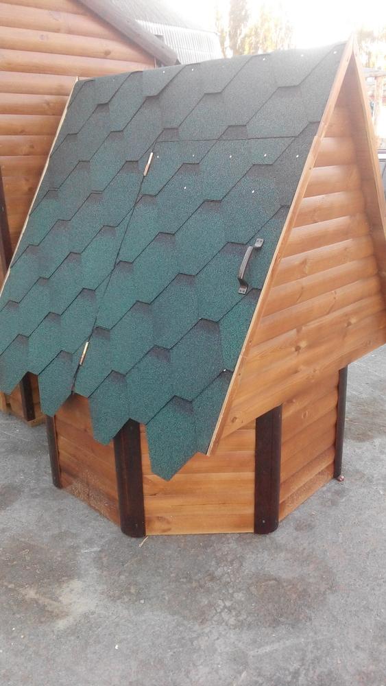 Декоративный колодец,  домик для колодца в сад 3