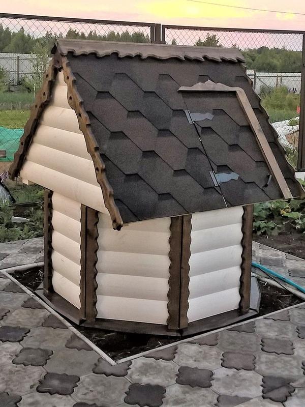 Декоративный колодец,  домик для колодца в сад 2