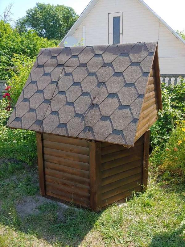 Декоративный колодец,  домик для колодца в сад 4