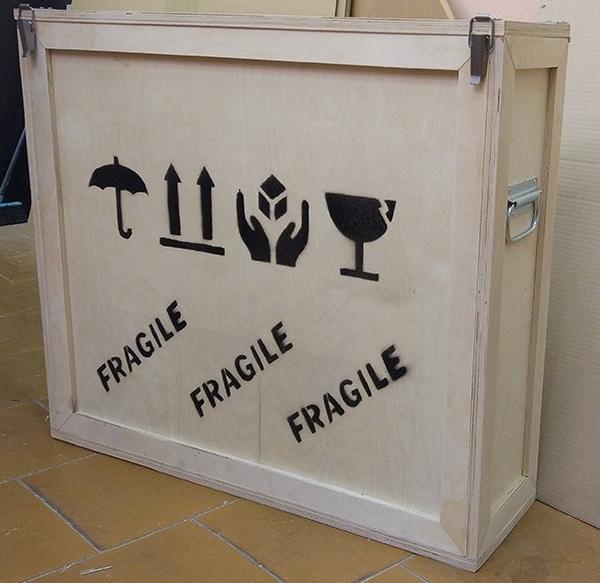 Купить Заказать коробку для картины для пересылки почтой FedEx,  DHL 2