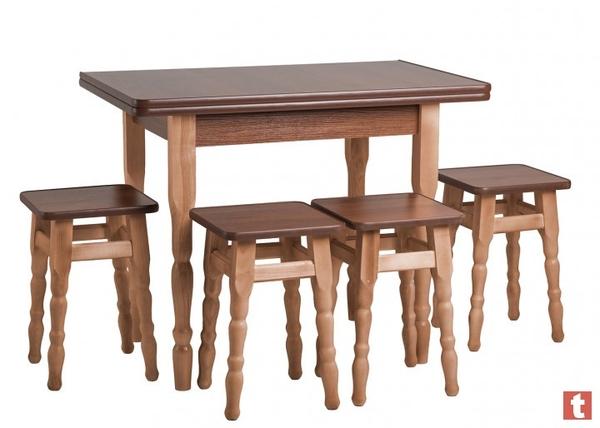 Стол Кухонный Раскладной + 4 Табурета Эко Акция 2