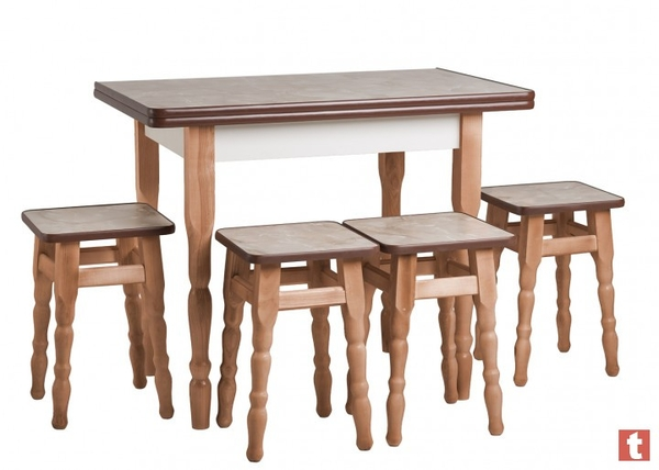 Стол Кухонный Раскладной + 4 Табурета Эко Акция 3