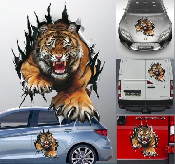 Красивые,  оригинальные и практичные наклейки на авто c 3D изображениям